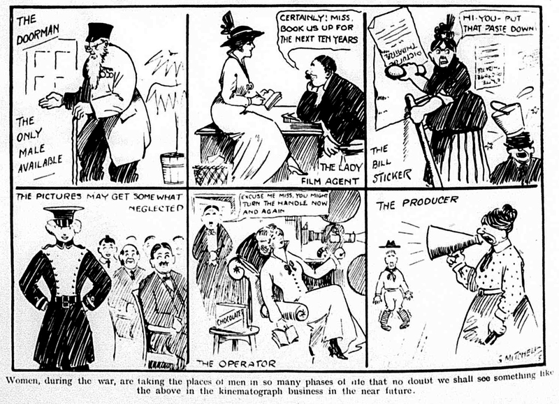 Cartoon: Replacement Labour in World War 1