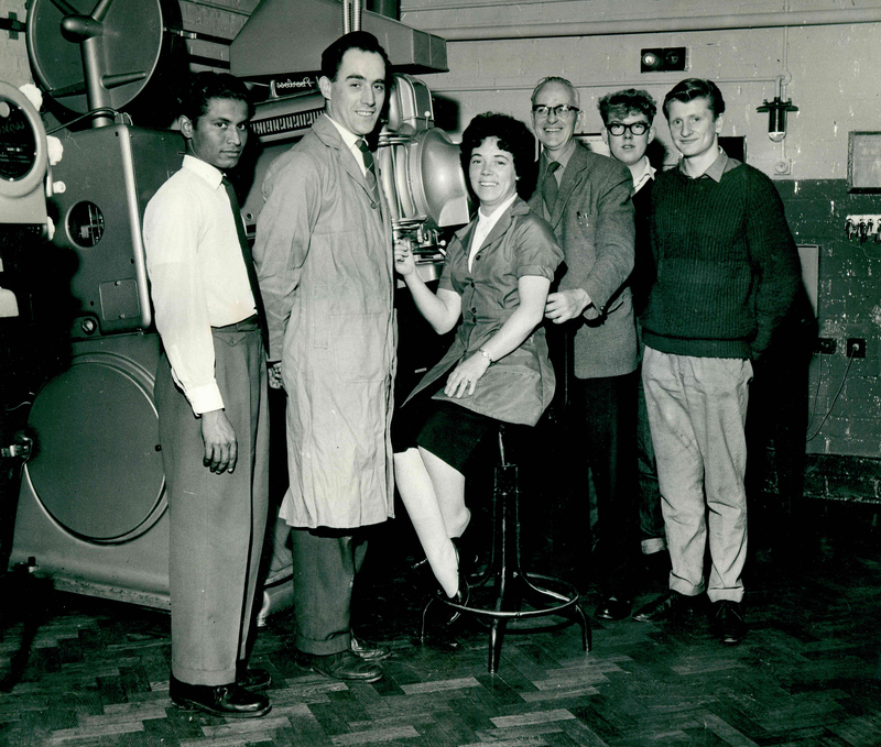 Projection team - Bristol Cinema, Birmingham (1962)